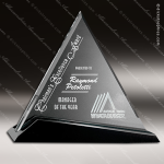 Crystal Black Accented Cavalcade Triangle Trophy Award Triangle Shaped Crystal Awards