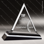 Crystal Black Accented Sharp Ascent Triangle Trophy Award Triangle Shaped Crystal Awards