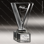 Crystal  Avatar Triange Trophy Award Triangle Shaped Crystal Awards