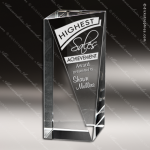 Crystal  Brilliance Triangle Obelisk Trophy Award Triangle Shaped Crystal Awards