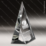 Crystal  Clear Luxar Triangle Trophy Award Triangle Shaped Crystal Awards