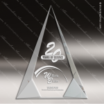 Crystal  Facet Triangle Trophy Award Triangle Shaped Crystal Awards