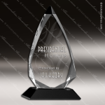 Crystal Black Accented Arrow Series Trophy Award Triangle Shaped Crystal Awards