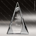 Crystal  Arrowhead Triangle Diamond Prism-Effect Base Trophy Award Triangle Shaped Crystal Awards