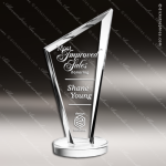 Crystal  Clear Conception Summit Trophy Award Triangle Shaped Crystal Awards