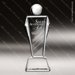 Crystal  Clear Conqueror Trophy Award Triangle Shaped Crystal Awards