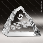 Crystal  Clear Peak Iceberg Trophy Award Triangle Shaped Crystal Awards