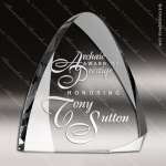 Crystal  Clear Round Summit Trophy Award Triangle Shaped Crystal Awards