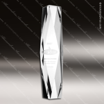 Crystal  Clear Obelisk President Tower Trophy Award Triangle Shaped Crystal Awards