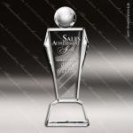 Crystal  Clear Global Conqueror Trophy Award Triangle Shaped Crystal Awards