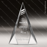 Crystal  Clear Tri-Triangle Trophy Award Triangle Shaped Crystal Awards