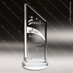 Crystal  Clear Summit Apex Trophy Award Triangle Shaped Crystal Awards
