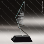 Glass Black Accented Triangle Alterna Trophy Award Triangle Shaped Glass Awards