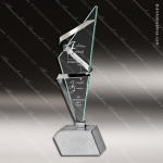 Glass Silver Accented Triangle Rhapsody Trophy Award Triangle Shaped Glass Awards