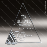 Glass Silver Accented Triangle Starphire Trophy Award Triangle Shaped Glass Awards