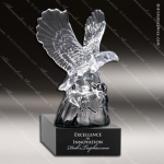 Crystal Black Accented Soaring Eagle Trophy Award Tropar Airflyte Crystal Trophy Awards