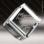 Crystal  Cube Paperweight Trophy Award Tropar Airflyte Crystal Trophy Awards