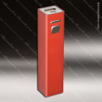 Laser Engraved USB Power Bank Red Gift Award USB Flash Drive Keychains