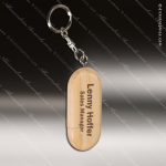 Laser Engraved Keychain 8GB USB Bamboo Oval Flash Thumb Drive Gift Award USB Flash Drive Keychains