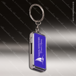 Laser Engraved Keychain 8GB USB Flash Thumb Drive Blue Gift Award USB Flash Drive Keychains