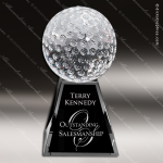 Crystal Sport Tee Up Golf Ball Trophy Award Visions Crystal Trophy Awards