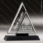 Crystal Black Accented Tribeca Triangle Trophy Award Visions Crystal Trophy Awards