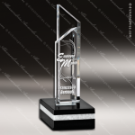 Crystal Black Accented Stratum II Sail Trophy Award Visions Crystal Trophy Awards
