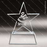 Crystal  Clear Stellar II Star Trophy Award Visions Crystal Trophy Awards