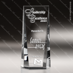 Crystal  Clear Radiant Rectangle Glow Trophy Award Visions Crystal Trophy Awards