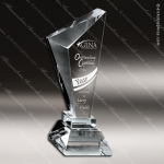 Crystal  Clear Slanted Obelisk Pillar Trophy Award Visions Crystal Trophy Awards