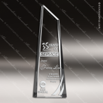 Crystal  Clear Sky Sculpture Sail Trophy Award Visions Crystal Trophy Awards