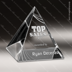 Crystal  Clear Reflections Pyramid Trophy Award Visions Crystal Trophy Awards