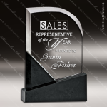 Crystal Black Accented Solon Arch Trophy Award Visions Crystal Trophy Awards