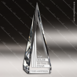 Crystal  Clear Pulse Pyramid Trophy Award Visions Crystal Trophy Awards