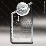 Crystal Sport Prism Golf Ball Trophy Award Visions Crystal Trophy Awards