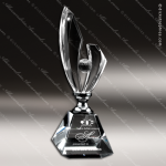 Crystal Silver Accented Lightning Trophy Award Visions Crystal Trophy Awards