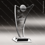 Crystal Sport Fantasia Golf Ball Trophy Award Visions Crystal Trophy Awards