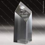Crystal  Clear Diamond Tower Trophy Award Visions Crystal Trophy Awards
