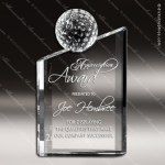 Crystal Sport Dynamic Golf Ball Trophy Award Visions Crystal Trophy Awards