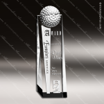 Crystal Sport Golf Tower Rectangle Trophy Award Visions Crystal Trophy Awards