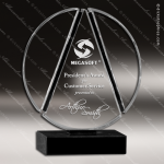 Crystal Black Accented Columbus Circle Trophy Award Visions Crystal Trophy Awards