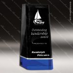 Crystal Blue Accented Cobalt Visa Marble Obelisk Trophy Award Visions Crystal Trophy Awards