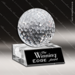 Crystal Sport Match Play Golf Ball Trophy Award Visions Crystal Trophy Awards