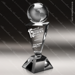 Crystal  Clear Intrigue Globe Trophy Award Visions Crystal Trophy Awards