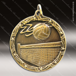 Medallion Shooting Star Series Volleyball Medal Volleyball Medals