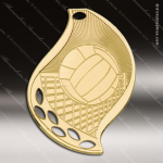 Medallion Gold Flame Series Volleyball Medal Volleyball Medals