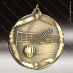 Medallion Wreath Cast Series Volleyball Medal Volleyball Medals