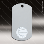 Medallion Silver Series Dog Tag Volleyball Medal Volleyball Medals