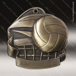 Medallion M2000 Series Volleyball Medal Volleyball Medals