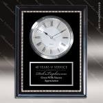Desk Gift Black Accented Roman Clock Wall Award Wall Clock Plaques